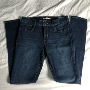 Levi's 710 super skinny dark wash jeans!!